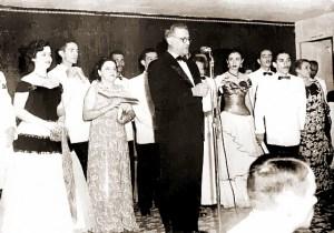 Mário Marroquim discursa na inauguração da Rádio Difusora