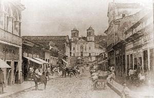 Rua Luiz Ramos em 1900, em Pilar