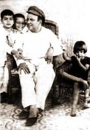 Tércio Wanderley e seus filhos Rubens, Victor e Vilma