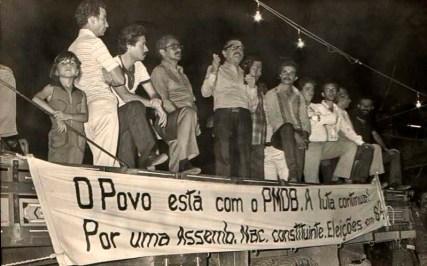Teotônio Vilela na campanha de 1982