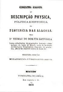Fac-simile da capa da obra mais conhecida de Thomaz Espíndola