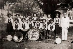 Formação inicial do Jazz Band Japy. Acervo Aracy Rodrigues
