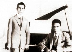 Jayme de Altavila e Tavares de Figueiredo, parceiros em várias músicas, em 1923