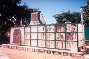 Monumento aos ex-combatentes da Segunda Guerra Mundial no Cemitério de N. S. da Piedade