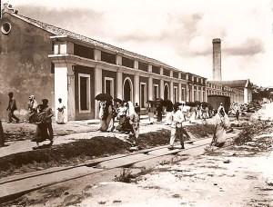 Operários saindo da Progresso Alagoano