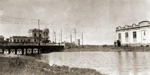 Riacho Maceió Salgadinho, no antigo leito. A ponte da foto destruída na cheia de 1924