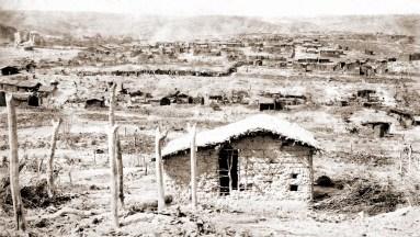 Vista parcial de Canudos em 1897. Foto de Flávio de Barros do Acervo Museu da República