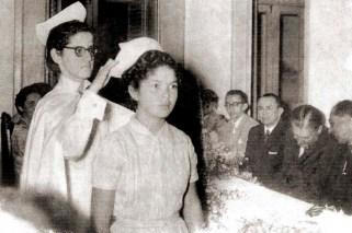 Cerimônia da Touca em 1955