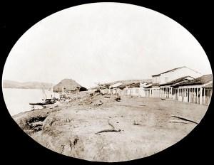 Rua da Praia. Foto de Abílio Coutinho em 1869