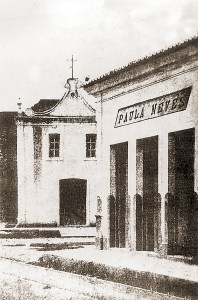 Antiga capela do Livramento que foi substituída pela Igreja inaugurada em 17 de fevereiro de 1883