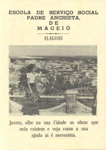 Capa do panfleto que divulgava a Escola de Serviço Social Padre Anchieta