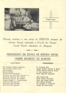 Panfleto da Escola de Serviço Social Padre Anchieta