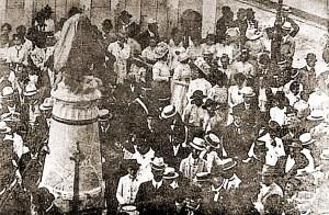 Inauguração da reforma da praça e do busto de D. Rosa da Fonseca em 7 de setembro de 1910