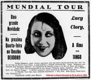 Anúncio na Revista Novidade, onde Carlos Paurílio escrevia em abril de 1934