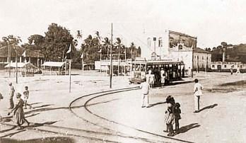 Praça Santo Antonio em Bebedourona década de 20