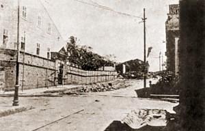Ladeira do Brito sendo alargada em 1915