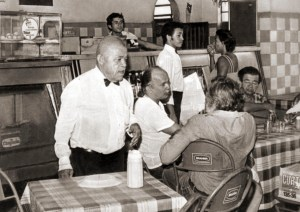 Pescoço, Antônio Moreira, Nilson Miranda (de costas) e José Reis no Gracy