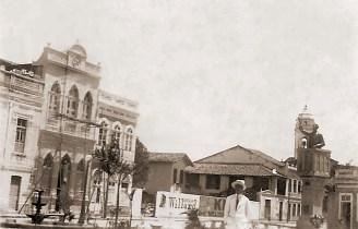 Praça do Montepio sem a Faculdade Direito e com a sede do Montepio em obras