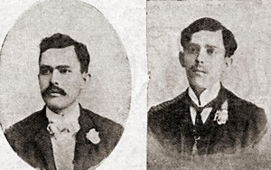 Avelino de Alcântara Taveiros (pai de Helena) e seu irmão Rutílio de Alcântara Taveiros. Foto. O Malho, Ano VI, nº 236, RJ, 23 de março de 1907, p. 25