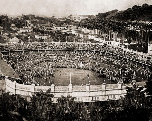 Outro aspecto do estádio do Fluminense na final do Concurso. Fonte: revista Fon-fon, Ano XXIII, Nº 17, 27 de abril de 1929, p. 42