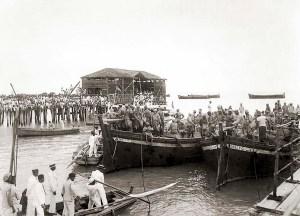 Desembarque de tropas na Ponte de Jaraguá