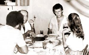 Jairo, Valmir Calheiros e Bartolomeu Dresch no Bar da Nete, reduto dos jornalistas em Maceió