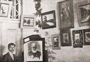Parte da exposição num dos Salões da Sociedade Perseverança e Auxílio dos Empregados do Comércio, em Maceió. Foto: O Malho, Ano X, Nº 458, Rio de Janeiro, 24 de junho de 1911, p. 44