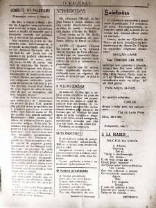 O Bacurau de agosto de 1925