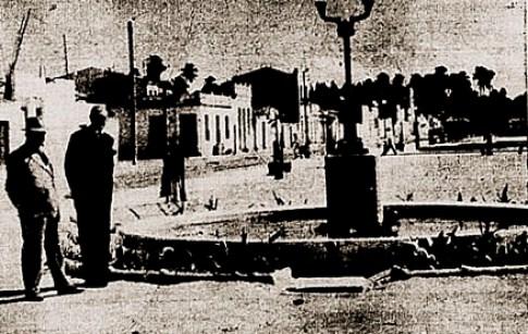 Abelardo Pontes Lima visita as obras do Parque Rodolfo Lins em janeiro de 1953