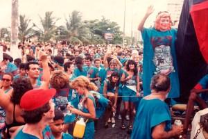 Desfile de 1991, quando o namoro dos ministros deu bolero na avenida. Foto de Plínio Nicácio
