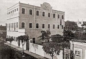 Colégio Diocesano, onde Zequito Porto revelou-se como jogador profissional. A foto é de 1950