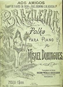 "Capa da partitura da polca ""Brasileira"", editada por Victor Préalle, Sucessor, no Recife"
