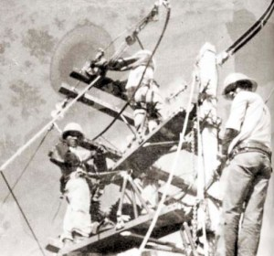 Equipe de manutenção da antiga Ceal
