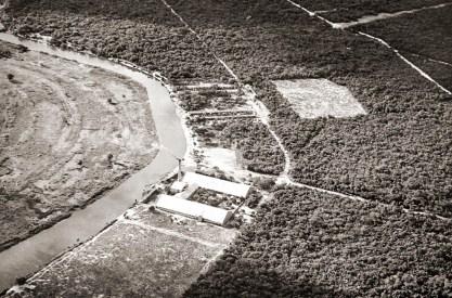 Vista aérea da Fábrica de Tecido Marituba em Piaçabuçu