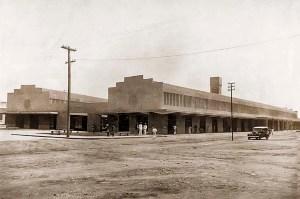 Mercado de Maceió em 1939. Uma obra inaugurada por Osman Loureiro e pelo prefeito Eustáquio Gomes de Melo