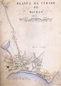 Planta de Maceió de 1902 com a localização do futuro Mercado sobre o alagadiço da Levada