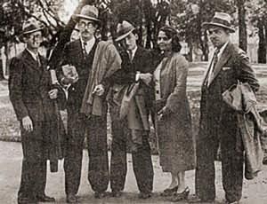 Waldemar Cavalcanti, José Auto, Jorge Amado, Rachel de Queiroz e Alberto Passos Guimarães em Maceió no ano de 1933