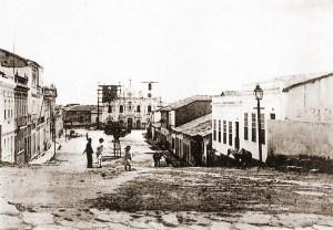 Igreja de São Gonçalo Garcia dos Homens Pardos, em Penedo, sendo reformada no início do século XX