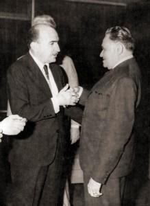 Segismundo Andrade e o presidente Castelo Branco. Foto acervo Etevaldo Amorim