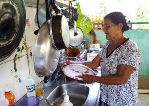 Dona Mocinha é também mestra na cozinha regional