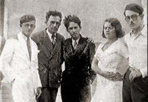 Valdemar Cavalcanti, Graciliano Ramos, Aloísio Branco, Rachel de Queiroz e seu marido José Auto em Maceió, 1932