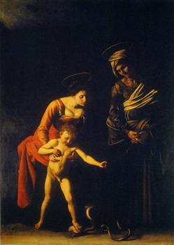 Madona de los Palafreneros de Caravaggio