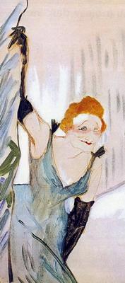 Ivette saludando al público de Henri de Toulouse-Lautrec