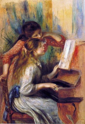 Jovencitas al piano de Pierre-Auguste Renoir