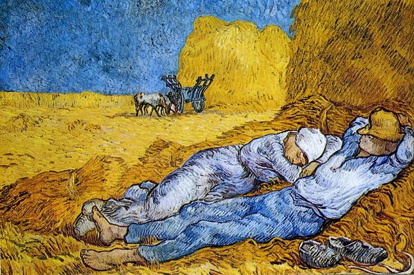 La siesta de Vincent Van Gogh