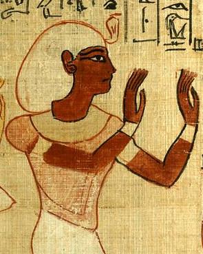 Escena en la que se representaría a Herihor, yerno y sucesor de Piankh