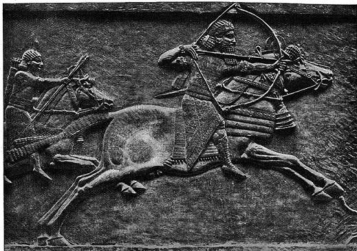 Relieve en el que se puede ver al rey asirio Ashurbanipal cazando