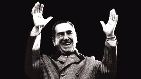 Juan Domingo Perón, uno de los presidentes argentinos presos en la isla Martín García