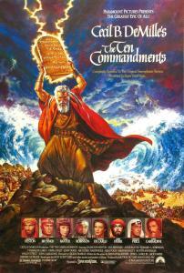 """Cartel del clásico """"Los Diez Mandamientos"""""""