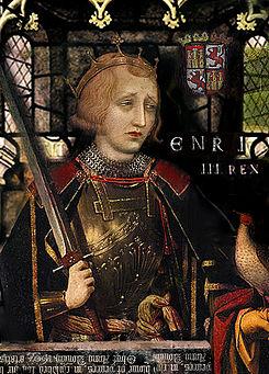 Vidriera en la que se representa a Enrique III de Castilla